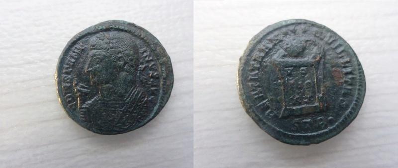 AE3 de Constantino I. BEATA TRANQVILLITAS. Trier P1060110