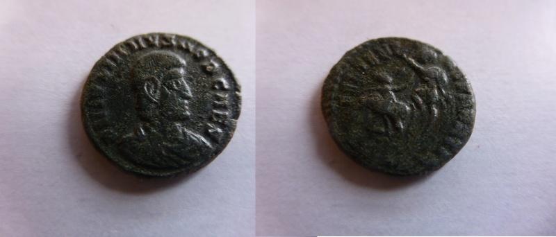 AE de Juliano II. FEL TEMP REPARATIO. Soldado romano alanceando a jinete caído.  P1060210