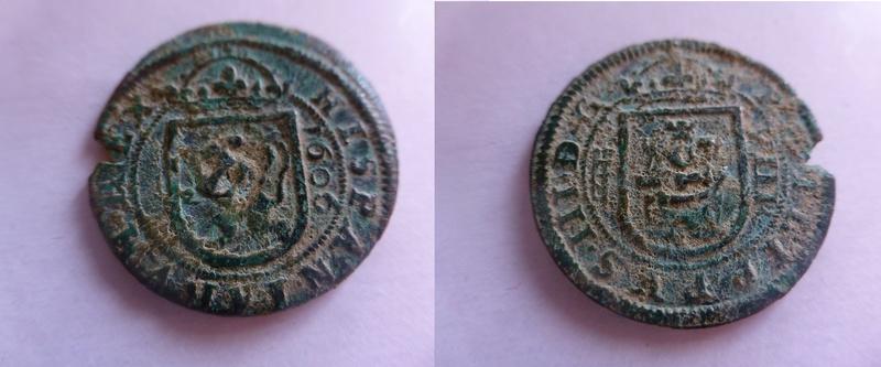 4 maravedis de Felipe III de 1606 - Segovia P1060211