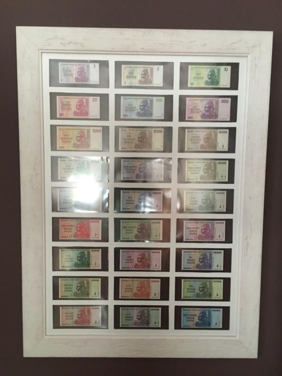 Presentación billetes, dollar Zimbabwe 2692c510