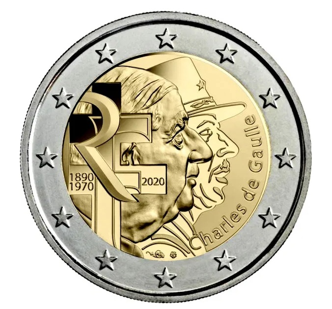 2€ CC Francia Charles de Gaulle De_gau10