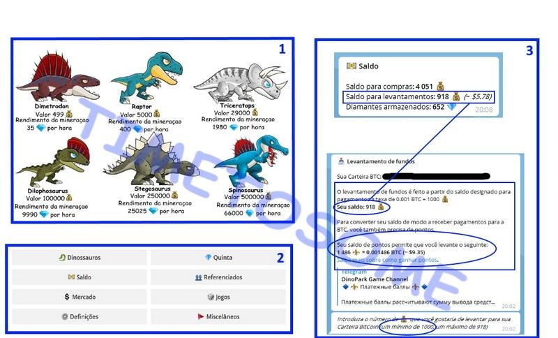 OPORTUNIDADE [Risco-Provado] Dino Park Game e outros Bots - Telegram - WindowsPC/Android/iOS - Paga por Bitcoin  Tela_d10