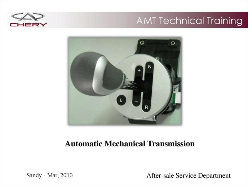 Capacitación Transmisión AMT Chery/AMT Tecnhnical Training Slide-10
