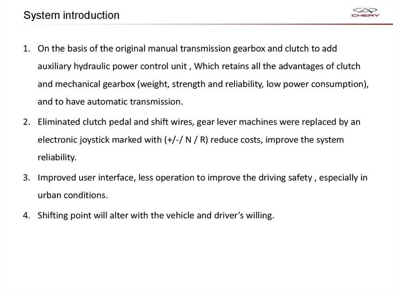 Capacitación Transmisión AMT Chery/AMT Tecnhnical Training Slide-15