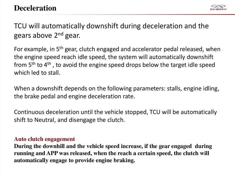 Capacitación Transmisión AMT Chery/AMT Tecnhnical Training Slide-34