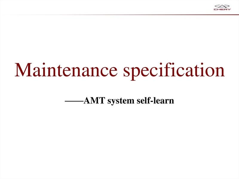 Capacitación Transmisión AMT Chery/AMT Tecnhnical Training Slide-59