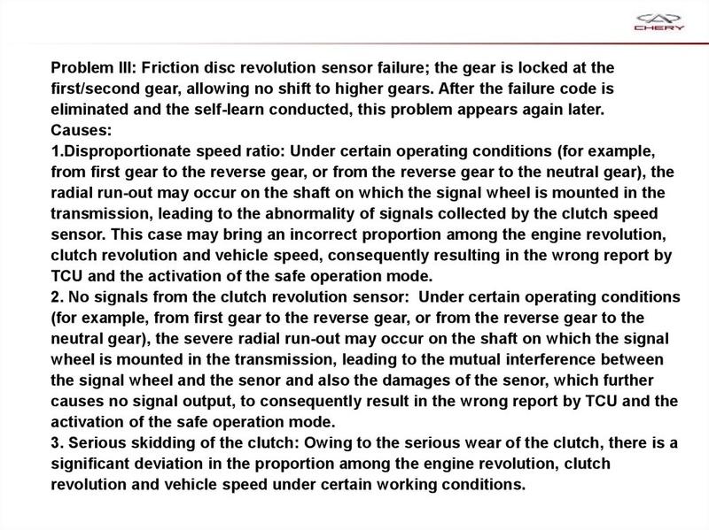 Capacitación Transmisión AMT Chery/AMT Tecnhnical Training Slide-72