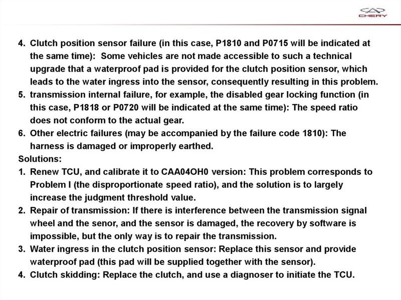 Capacitación Transmisión AMT Chery/AMT Tecnhnical Training Slide-73