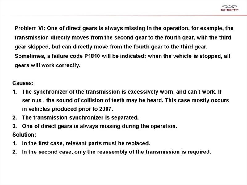 Capacitación Transmisión AMT Chery/AMT Tecnhnical Training Slide-76