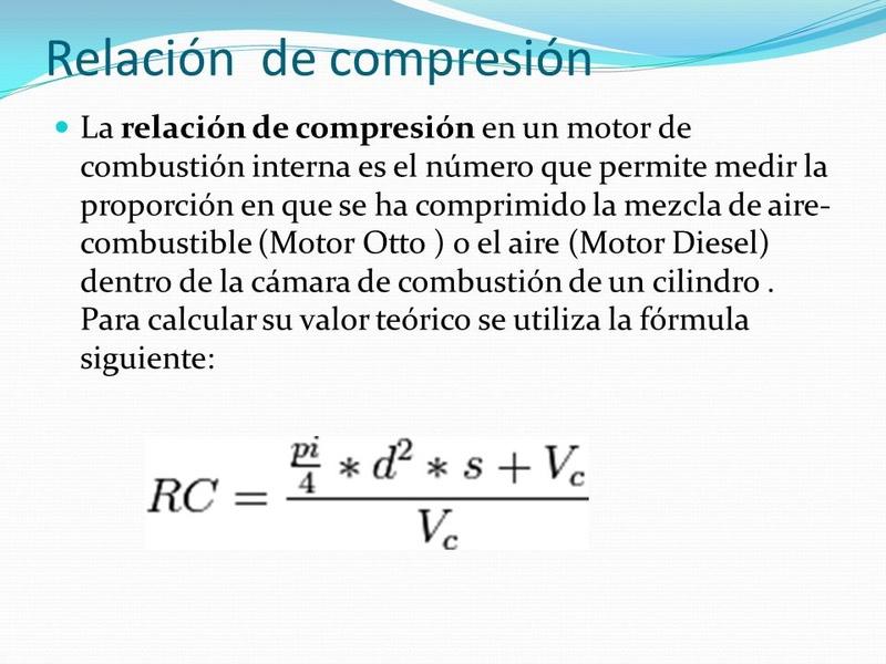 Cálculo de la cilindrada de un motor y la Relación de Compresión Slide_10