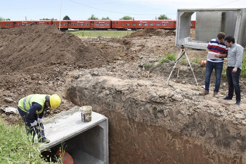 Tortuguitas: se construye un reservorio de agua para evitar inundaciones _dsc1410