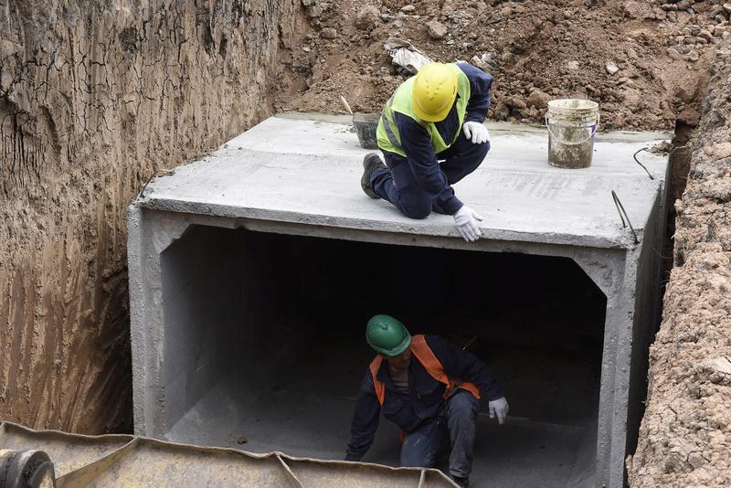 Tortuguitas: se construye un reservorio de agua para evitar inundaciones _dsc1510