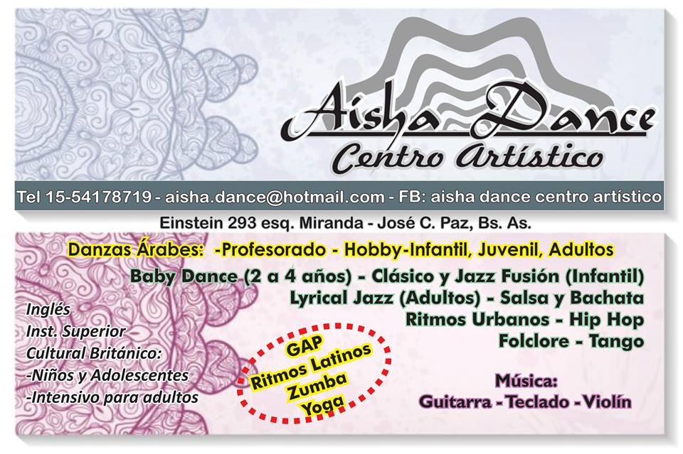 En José C. Paz.... No lo dudes... Aisha Dance. Aviso_67