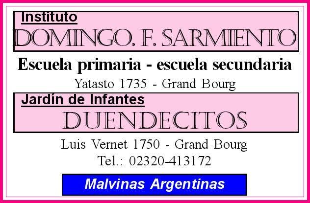 En educación... Instituto Domingo F. Sarmiento, en Grand Bourg. Inst_d17