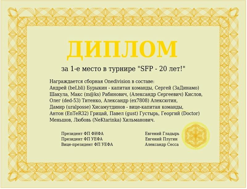 """SFP - 20 лет!"" - Страница 2 410"