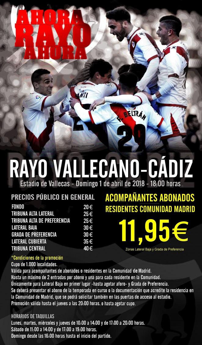 [J33] Rayo Vallecano - Cádiz C.F. - Domingo 01/04/2018 18:00 h. 662x3710