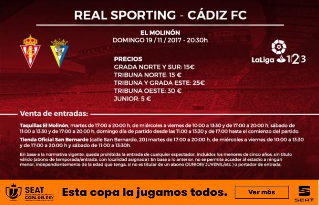 [J15] R. Sporting - Cádiz C.F. - 19/11/2017 20:30 h. Cartel12