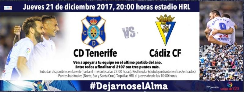 [J20] C.D. Tenerife - Cádiz C.F. - Jueves 21/12/2017 21:00 Cartel13