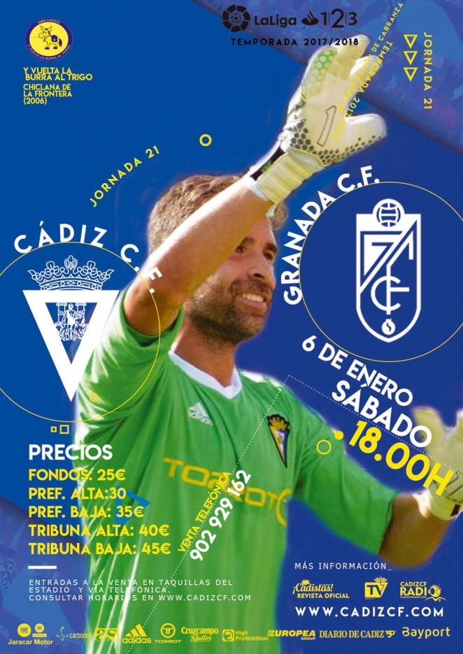 [J21] Cádiz C.F. - Granada C.F. - Sábado 06/01/2018 18:00 h. Cyydiz14