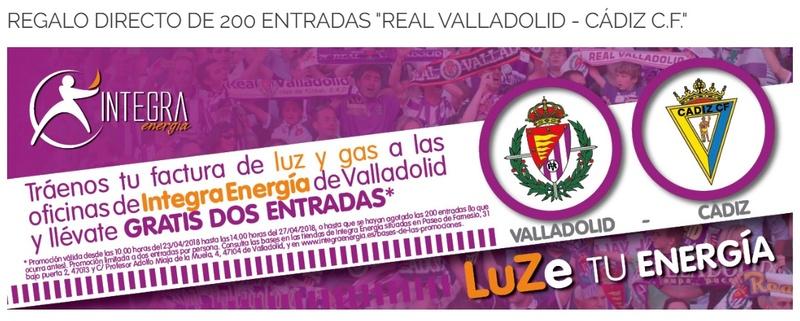 [J37] R. Valladolid - Cádiz C.F. - Sábado 28/04/2018 16:00 h. Promoc11