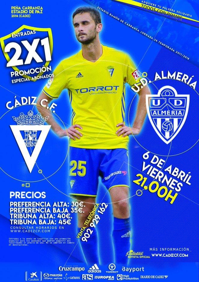 [J34] Cádiz C.F. - U.D. Almería - Viernes 06/04/2018 21:00 h. Ydiz-a10