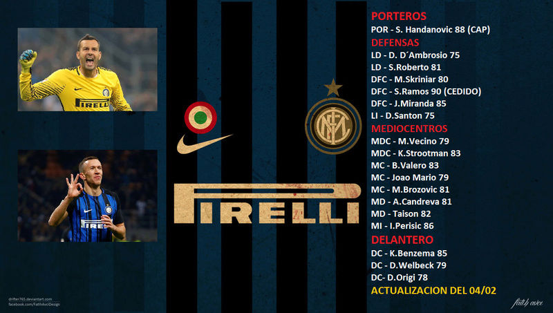PLANTILLA FC INTERNAZIONALE T3 Platil12