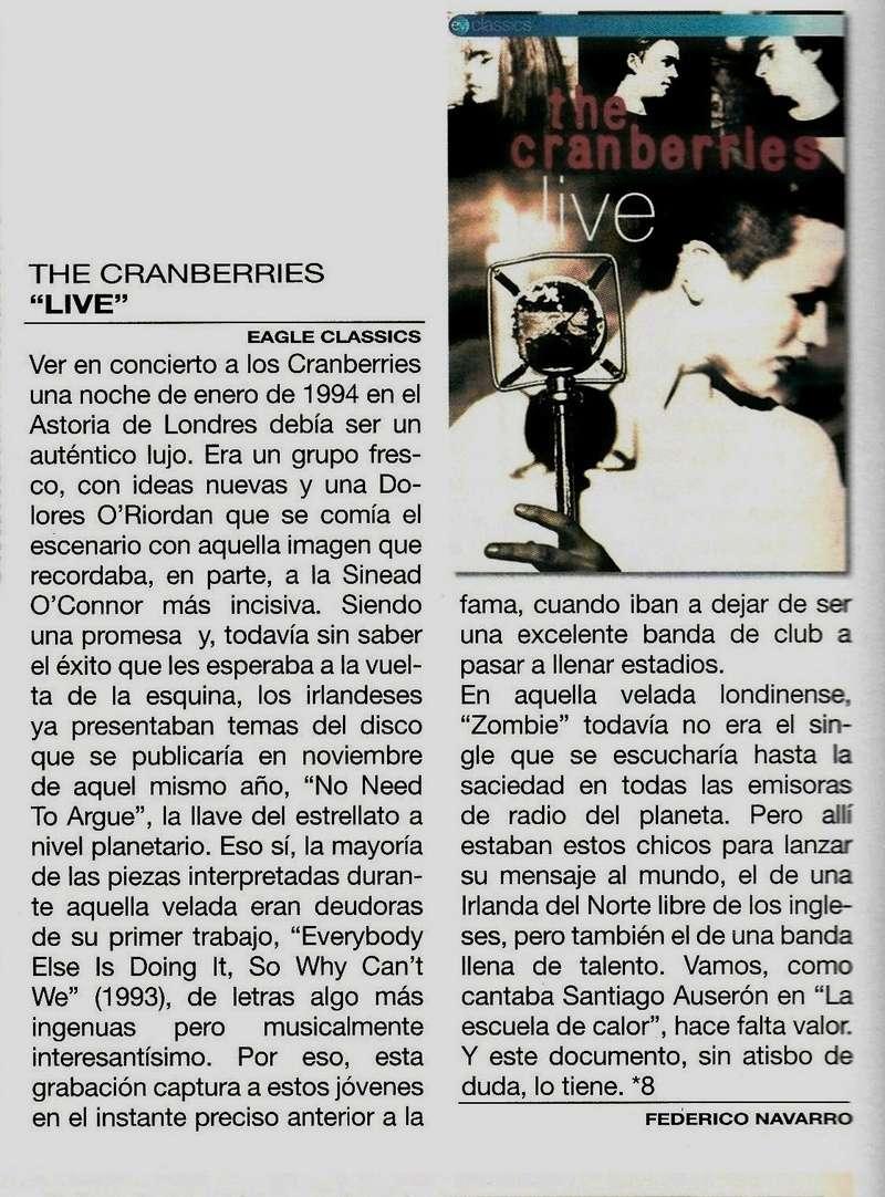 Ha fallecido Dolores O'Riordan, vocalista de The Cranberries. - Página 3 Dvds_t10