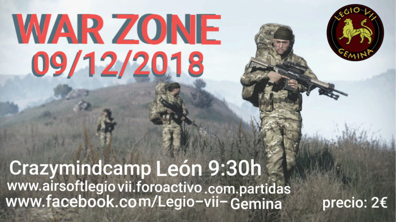 WAR ZONE 09/12/2018 domingo Crazymindcamp León 20181210