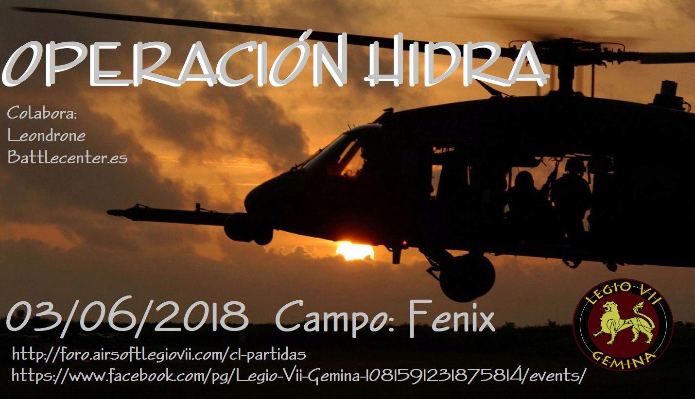 OPERACION HIDRA 03/06/2018 DOMINGO CAMPO: FENIX Op_hid11