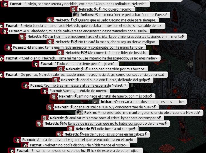 [Roleo de Arkania] Sable Láser Rojo 1010