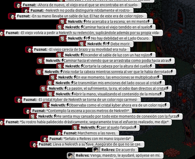[Roleo de Arkania] Sable Láser Rojo 1110