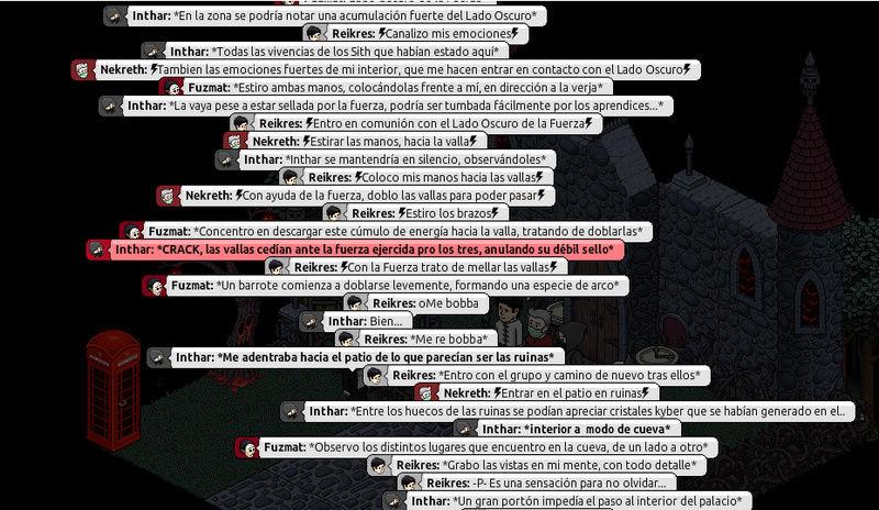 [Roleo de Arkania] Sable Láser Rojo 514