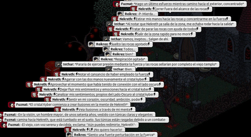 [Roleo de Arkania] Sable Láser Rojo 912