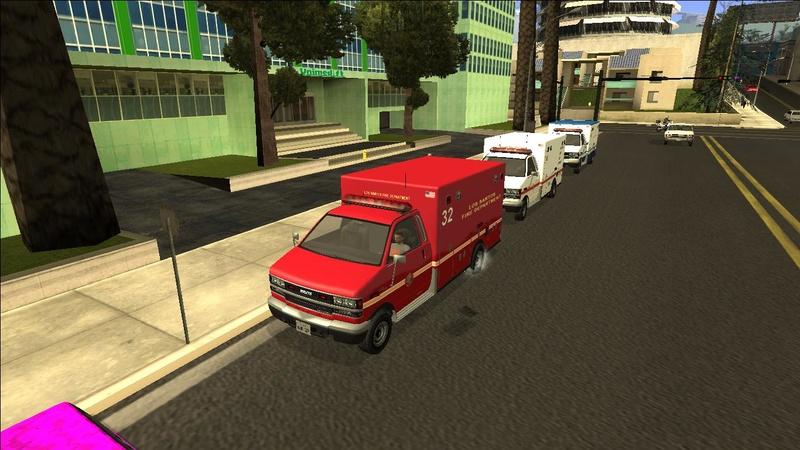 Ambulancia GTA V - Adaptado ao GTA SA + 4 Versões extras Galler10