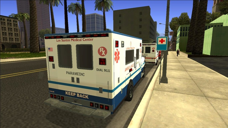 Ambulancia GTA V - Adaptado ao GTA SA + 4 Versões extras Galler11