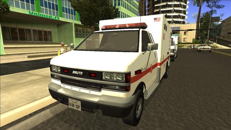 Ambulancia GTA V - Adaptado ao GTA SA + 4 Versões extras Galler12