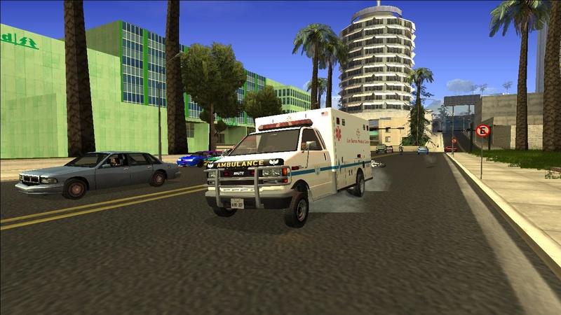 Ambulancia GTA V - Adaptado ao GTA SA + 4 Versões extras Galler13