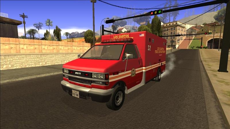 Ambulancia GTA V - Adaptado ao GTA SA + 4 Versões extras Galler14