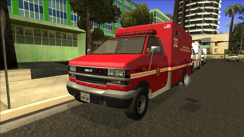 Ambulancia GTA V - Adaptado ao GTA SA + 4 Versões extras Galler15