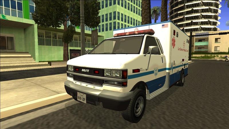 Ambulancia GTA V - Adaptado ao GTA SA + 4 Versões extras Galler16