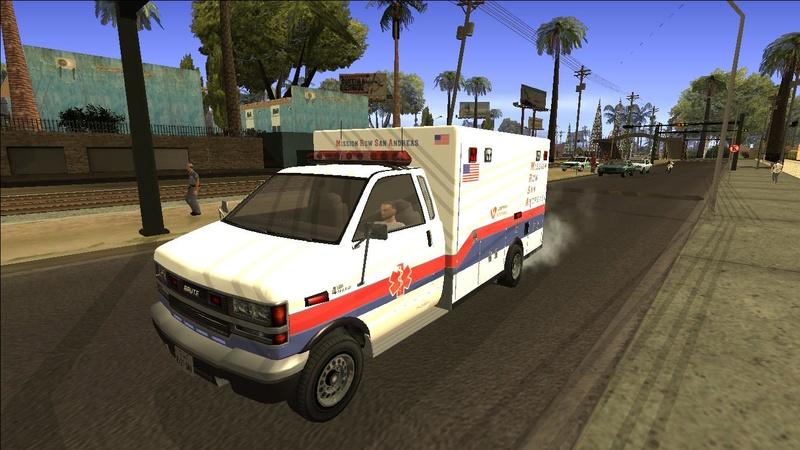 Ambulancia GTA V - Adaptado ao GTA SA + 4 Versões extras Galler17