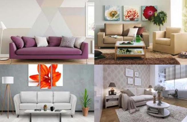 أفكار مميزة لتزيين الجدار في غرفة المعيشة Wall-l10