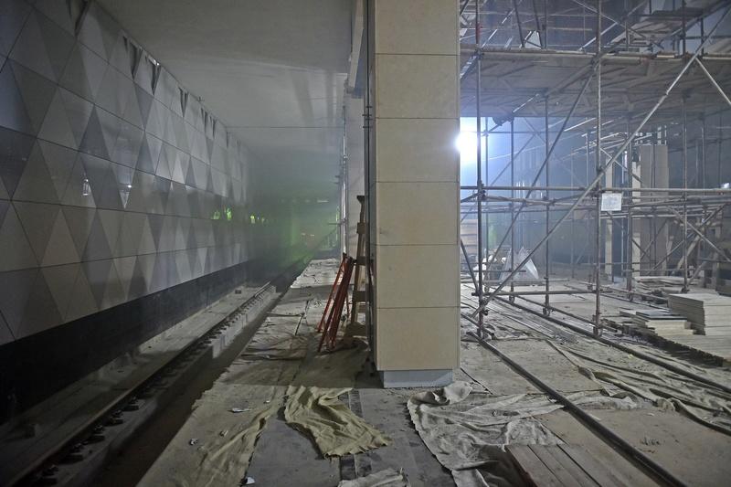 """Новая станция метро """"Селигерская"""" (1,4 км от ЖК """"Летний сад"""") - почти готова! Финальные фото строительства 01993310"""
