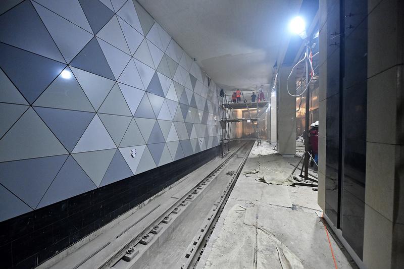 """Новая станция метро """"Селигерская"""" (1,4 км от ЖК """"Летний сад"""") - почти готова! Финальные фото строительства 110"""