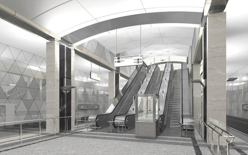 """Новая станция метро """"Селигерская"""" (1,4 км от ЖК """"Летний сад"""") - почти готова! Финальные фото строительства 35364d10"""