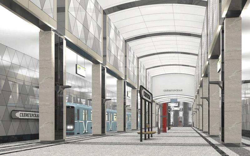 """Новая станция метро """"Селигерская"""" (1,4 км от ЖК """"Летний сад"""") - почти готова! Финальные фото строительства E4490c10"""