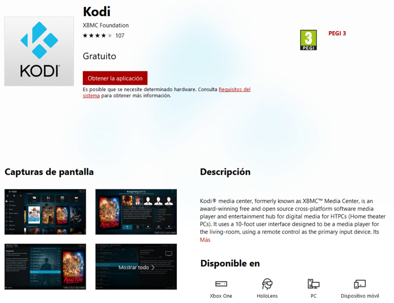 Kodi disponible oficialmente para Xbox One 2017-110