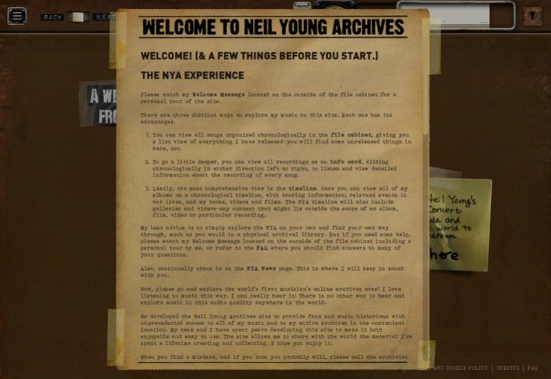 Toda la discografía de Neil Young en escucha abierta y alta calidad Screen10