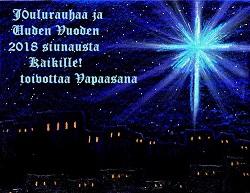 Joulurauhaa ja Uuden vuoden 2018 siunausta Kaikille Siunau10
