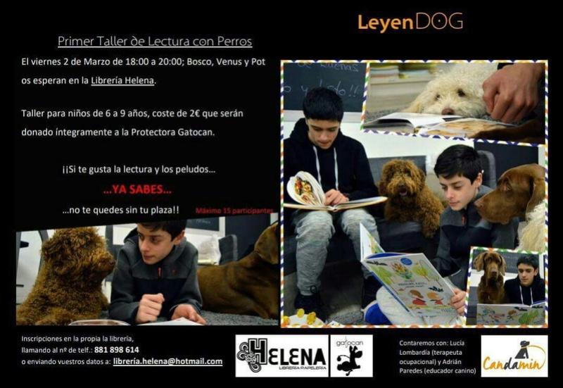 Taller de lectura con perros 2 de Marzo Cartel16